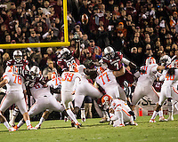 The tenth ranked South Carolina Gamecocks host the 6th ranked Clemson Tigers at Williams-Brice Stadium in Columbia, South Carolina.  USC won 31-17 for their fifth straight win over Clemson.  Clemson takes kicks a field goal.