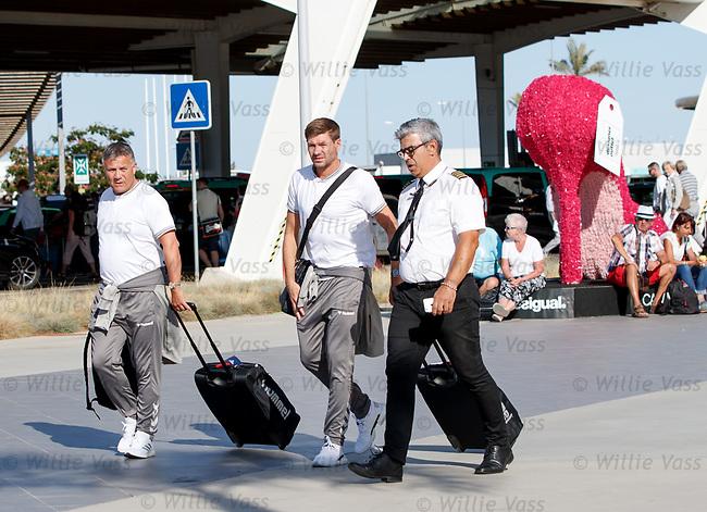 22.06.2019 rangers arrive in Portugal: Mark Allen and Steven Gerrard