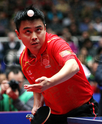 01.04.2012 Dortmund, Germany. ITTF Team World Championships Final Germany v China. Picture shows Hao Wang China.