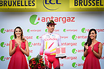Stephane Rossetto (FRA) Cofidis takes the combativity prize in his first ever day racing at the Tour at the end of Stage 1 of the 2019 Tour de France running 194.5km from Brussels to Brussels, Belgium. 6th July 2019.<br /> Picture: ASO/Alex Broadway | Cyclefile<br /> All photos usage must carry mandatory copyright credit (© Cyclefile | ASO/Alex Broadway)