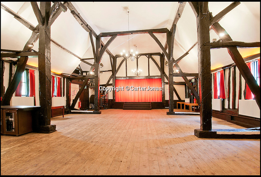 BNPS.co.uk (01202 558833)<br /> Pic: CarterJonas/BNPS<br /> <br /> ***Please Use Full Byline***<br /> <br /> The stage in the theatre at the Little Easton Manor.<br /> <br /> One of Britain's most historic country houses which boasts a theatre that has played host to Charlie Chaplin and H.G. Wells has gone on the market with a £5 million price tag.<br /> <br /> In the early 1900s the sprawling estate's tithe barn was transformed into a theatre in which the great and the good of the acting world flocked to perform.<br /> <br /> Edwardian actress Ellen Terry gave poetry readings there while War of the Worlds author H.G. Wells, who lived with his family in a house on the estate, also frequented the theatre.<br /> <br /> Other regular performers included Charlie Chaplin, Gracie Fields and George Formby.<br /> <br /> In more recent years it has welcomed famous faces such as Rowan Atkinson, Bill Cotton, Tim Rice, Esther Rantzen and even the cast of Eastenders.<br /> <br /> The 17th century Grade II listed manor is on the market with Carter Jonas estate agents for £5 million.