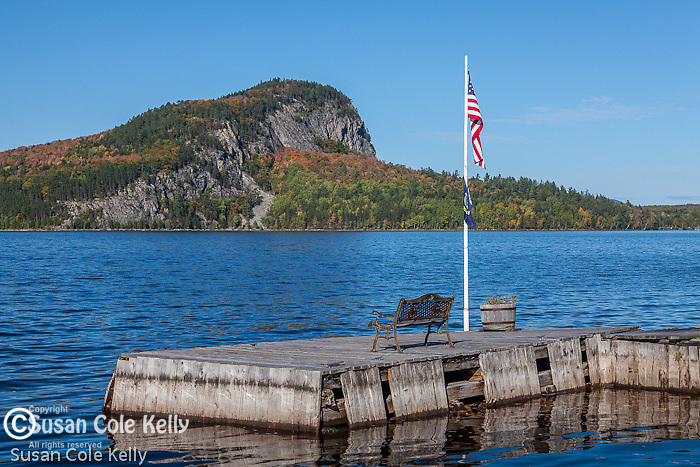 View of Mount Kineo over the Moose River, Rockwood, ME, USA