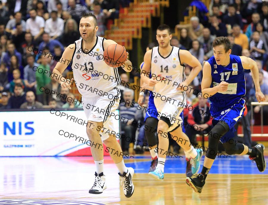Kosarka ABA League season 2014-2015<br /> Partizan v Zadar<br /> Milan Macvan (L) and Marko Ramljak<br /> Beograd, 15.03.2015.<br /> foto: Srdjan Stevanovic/Starsportphoto&copy;