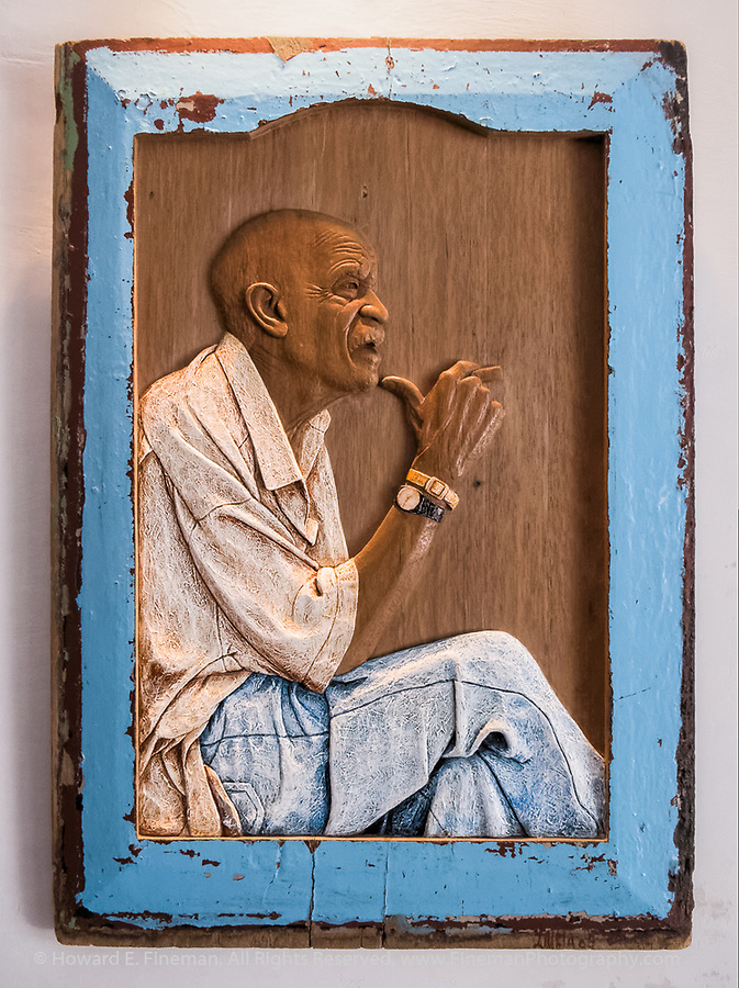 Lazaro Niebla's Carved wood portraits of Cuban farmer
