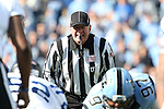 30 November 2013: Umpire Michael Webster. The University of North Carolina Tar Heels played the Duke University Blue Devils at Keenan Memorial Stadium in Chapel Hill, NC in a 2013 NCAA Division I Football game. Duke won the game 27-25.