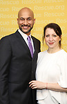 Keegan-Michael Key and Producer Elisa Pugliese attend The 2017 Rescue Dinner hosted by IRC at New York Hilton Midtown on November 2, 2017 in New York City.