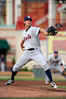 Binghamton Mets starting pitcher Gregory Peavey #18 during a game against the Erie Seawolves at Jerry Uht Park on June 23, 2012 in Erie, Pennsylvania.  Erie defeated Binghamton 5-3.  (Mike Janes/Four Seam Images)