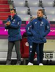 23.05.2020, Allianz Arena, München, GER, 1.FBL, FC Bayern München vs Eintracht Frankfurt 23.05.2020 , <br /><br />Nur für journalistische Zwecke!<br /><br />Gemäß den Vorgaben der DFL Deutsche Fußball Liga ist es untersagt, in dem Stadion und/oder vom Spiel angefertigte Fotoaufnahmen in Form von Sequenzbildern und/oder videoähnlichen Fotostrecken zu verwerten bzw. verwerten zu lassen. <br /><br />Only for editorial use! <br /><br />DFL regulations prohibit any use of photographs as image sequences and/or quasi-video..<br />im Bild<br />Sportdirektor Hasan Salihamidzic (München), Trainer Hans Flick (München) <br /> Foto: Peter Schatz/Pool/Bratic/nordphoto