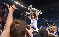 FUSSBALL  CHAMPIONS LEAGUE  FINALE  SAISON 2015/2016   Real Madrid - Atletico Madrid                   28.05.2016 Luka Modric (Real Madrid) jubelt mit dem Pokal