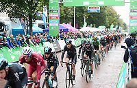Picture by Simon Wilkinson/SWpix.com - 10/09/2017 - Cycling - OVO Energy Tour of Britain - Stage 8 Worcester to Cardiff - final stage<br /> Finish Cardiff - podiums Team Sky peloton