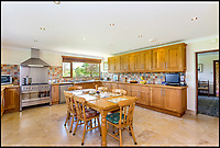 BNPS.co.uk (01202 558833)<br /> Pic: Humberts/BNPS<br /> <br /> Let it feed - large kitchen...<br /> <br /> Gimme Shelter - a quaint country bolt hole where the Rolling Stones stayed while playing gigs in the west country has emerged for sale. <br /> <br /> 'Pasaderas', which coincidentally means 'stepping stones' in Spanish, played host to the raucous band a number of times throughout the 1960s. <br /> <br /> The unsuspecting five bedroom home sits in secluded Gloucestershire countryside - thus providing the megastars with privacy away from pestering paparazzi and adoring fans. <br /> <br /> In those days the house belonged to a close friend of the late Stones co-founder and guitarist Brian Jones called Kerry Hamer, both of whom were from Cheltenham.