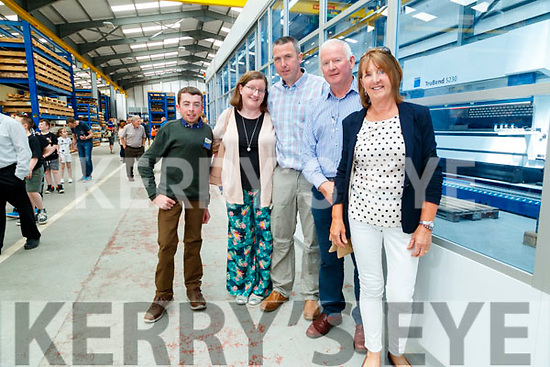 Conor Liston, Grace Carmody, Brendan Carmody with Donal and Jean Liston, pictured a tour of Dairymaster on Sunday last.