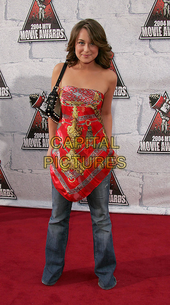 ALEXA VEGA .at the 2004 MTV Movie Awards held at The Sony Picture Studios in Culver City, .California,.6th June 2004..full length full-length strapless dress over jeans.*UK sales only*.www.capitalpictures.com.sales@capitalpictures.com.©Capital Pictures