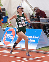 Springfield Catholic junior Kelly Devlin finishes the Class 3 Girls 1600 meters in 10th place in 5:20.46.