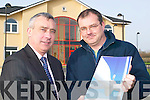 Business minds: Shannon Development's Ogie Moran with Tadgh Beary, Manager .of Wind Prospect Kerry, based in the Shannon Development Business Centre in .Clieveragh..   Copyright Kerry's Eye 2008