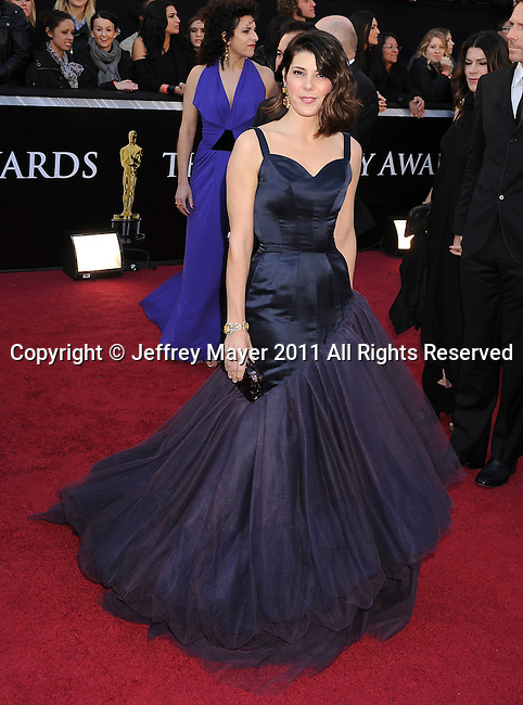 HOLLYWOOD, CA - FEBRUARY 27: Marisa Tomei arrives at the 83rd Annual Academy Awards held at the Kodak Theatre on February 27, 2011 in Hollywood, California.