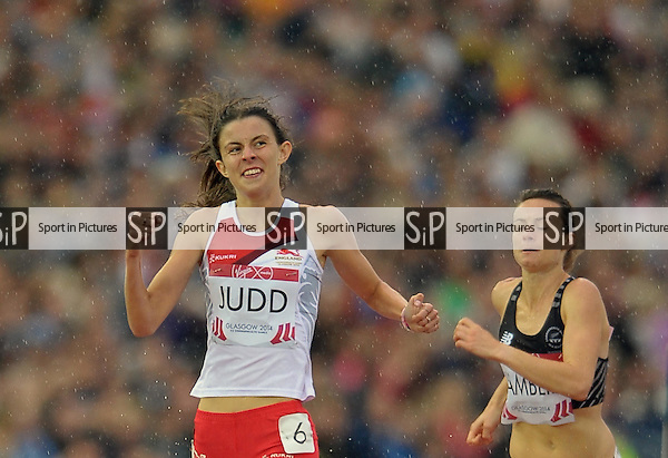 Jessica Judd (ENG) wins her semi-final. Womens 800m semi final. thletics. PHOTO: Mandatory by-line: Garry Bowden/SIPPA/Pinnacle - Tel: +44(0)1363 881025 - Mobile:0797 1270 681 - VAT Reg No: 183700120 - 310714 - Glasgow 2014 Commonwealth Games - Hampden Park, Glasgow, Scotland, UK