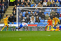 Yakou Meite of Reading heads the third goal in at the far post during Reading vs Wigan Athletic, Sky Bet EFL Championship Football at the Madejski Stadium on 9th March 2019