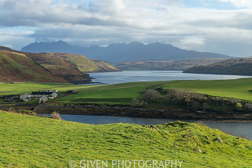 Gusto Bay and the Cuillen Mts, Isle of Skye, Scotland