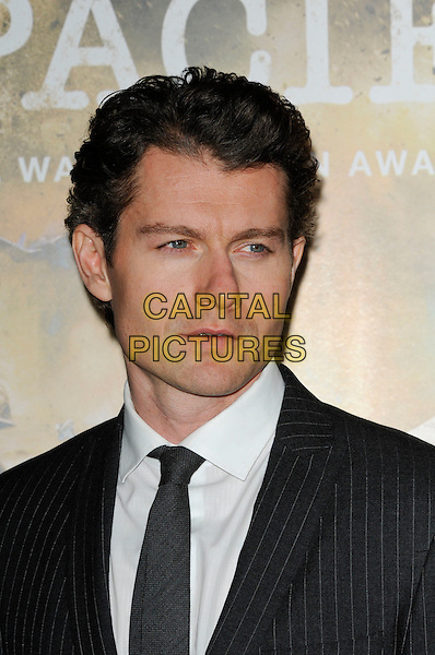 "JAMES BADGE DALE.The Los Angeles premiere of HBO's new miniseries event ""The Pacific"" at Grauman's Chinese Theatre in Hollywood, California.  .February 24th, 2010.headshot portrait grey gray tie pinstripe white .CAP/ROT.©Lee Roth/Capital Pictures"