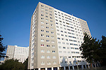 High rise inner city flats, Anlaby Road, Hull, Yorkshire, England