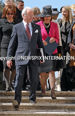 "KING CARL GUSTAF AND QUEEN SILVIA OF SWEDEN .visit the Galleria Borghese in Rome during their 3-day State Visit to Italy_26/03/2009.Mandatory Credit Photo: ©NEWSPIX INTERNATIONAL..**ALL FEES PAYABLE TO: ""NEWSPIX INTERNATIONAL""**..IMMEDIATE CONFIRMATION OF USAGE REQUIRED:.Newspix International, 31 Chinnery Hill, Bishop's Stortford, ENGLAND CM23 3PS.Tel:+441279 324672  ; Fax: +441279656877.Mobile:  07775681153.e-mail: info@newspixinternational.co.uk"