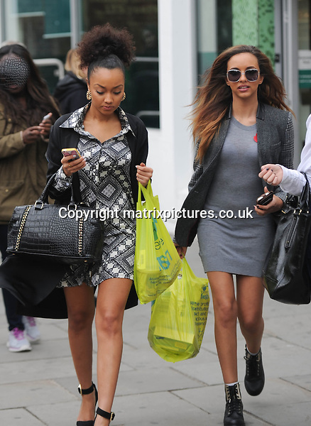 NON EXCLUSIVE PICTURE: PALACE LEE / MATRIXPICTURES.CO.UK<br /> PLEASE CREDIT ALL USES<br /> <br /> WORLD RIGHTS<br /> <br /> British girl group Little Mix are pictured as they head out for ice cream following an appearance at BBC Radio 1 in central London.<br /> <br /> NOVEMBER 2nd 2013<br /> <br /> REF: LTN 137123