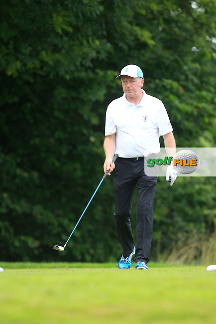 Des O'Donnell (Ballybunion) on the 10th tee during the Final round of the Munster section of the AIG Pierce Purcell Shield at East Clare Golf Club on Sunday 19th July 2015.<br /> Picture:  Golffile | Thos Caffrey