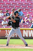 Nick Vilter #48 of the Eugene Emeralds bats against the Salem-Keizer Volcanoes at Volcanoes Stadium on July 27, 2014 in Keizer, Oregon. Salem-Keizer defeated Eugene, 9-1. (Larry Goren/Four Seam Images)