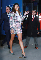 NEW YORK, NY - February 13: Danielle Herrington seen after an appearance at Good Morning America promoting the newest issue of Sports Illustrated 2018 Swim Suit edition and being it's newest cover girl. New York City. February 13, 2018. <br /> CAP/MPI/RW<br /> &copy;RW/MPI/Capital Pictures