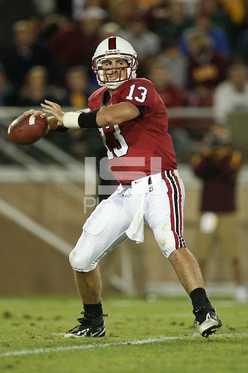 29 September 2007: T.C. Ostrander during Stanford's 41-3 loss to Arizona State at Stanford Stadium in Stanford, CA.