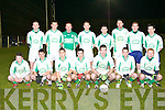 The St Kierans team that was defeated by Duhallow in the Rathmore/Ballincollig Credit Unions Duhallow u21 Invitation Cup semi-finals in Knocknagree on Friday night front row l-r: Sean Lynch, Bartley Rahilly, Brian Reidy, Tom Fitzgerald, Daniel Shea, Pa McCarthy, Ian Sommers. Back row: Dan Sullivan, Edmund Walsh, Shane O'Leary, Padraig Reidy, Cian Counihan, Aidan Breen, Michael Horan and Niall O'Shea.