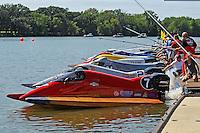 heat race start: Mark Jakob, #7, Lee Daniel, #2, Jeff Reno, #34, Ruben Ascencio III (#65), Mike Beegle, (#99), Jim McGrath, (#55) and Jimmie Merleau, (#69) (SST-120 class)