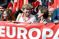 Roma, 25 Marzo 2017<br /> La cgil con Susanna Camusso<br /> Corteo per una Europa solidale , democratica e accogliente, contro muri e frontiere per i migranti.<br /> La nostra Europa