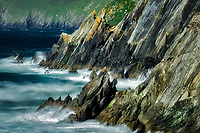 Rocky shoreline at Clogher's Beach.County Kerry, Ireland