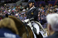 OMAHA, NEBRASKA - MAR 30: Carl Hester rides Nip Tuck during the FEI World Cup Dressage Final I at the CenturyLink Center on March 30, 2017 in Omaha, Nebraska. (Photo by Taylor Pence/Eclipse Sportswire/Getty Images)