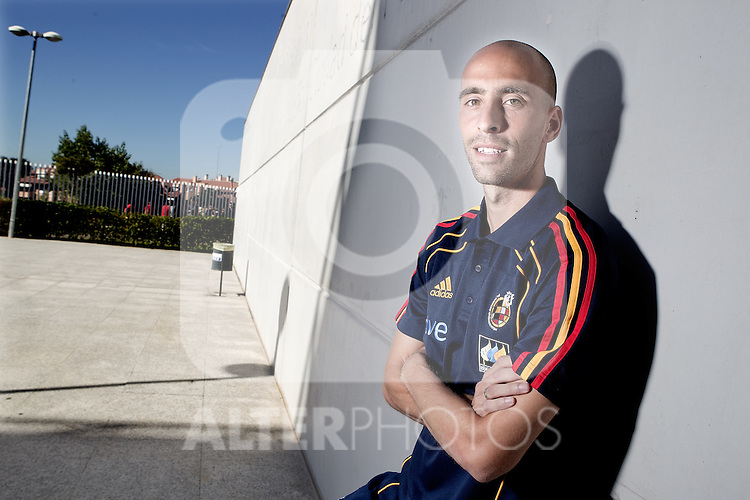 Spain's national team Borja Valero during portrait session. October 6, 2010. (ALTERPHOTOS/Alvaro Hernandez).