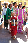 Young Monk Carrying Rice, Shwezigon Pagoda