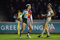 Charlie Walker of Harlequins looks on after scoring a second half try. Aviva Premiership match, between Harlequins and Saracens on December 3, 2017 at the Twickenham Stoop in London, England. Photo by: Patrick Khachfe / JMP