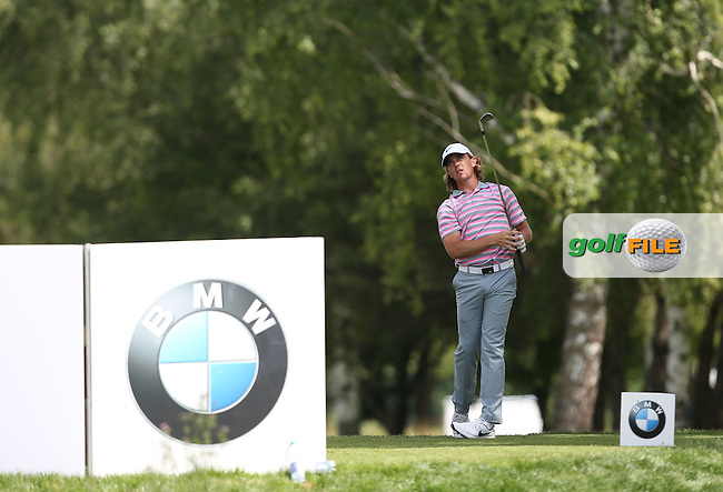 Tommy Fleetwood (ENG) plays from the 3rd tee to the 4th hole during Round One of the 2015 BMW International Open at Golfclub Munchen Eichenried, Eichenried, Munich, Germany. 25/06/2015. Picture David Lloyd | www.golffile.ie