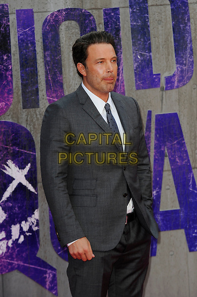 LONDON, ENGLAND - AUGUST 3: Ben Affleck attending the 'Suicide Squad' European Premiere at Odeon Cinema, Leicester Square on August 3, 2016 in London, England.<br /> CAP/MAR<br /> &copy;MAR/Capital Pictures