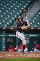 Scranton/Wilkes-Barre RailRiders Brad Miller (4) at bat during an International League game against the Buffalo Bisons on June 5, 2019 at Sahlen Field in Buffalo, New York.  Scranton defeated Buffalo 4-0, the second game of a doubleheader.  (Mike Janes/Four Seam Images)