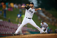 Kane County Cougars relief pitcher Lane Ratliff (30) delivers a pitch during a game against the South Bend Cubs on July 23, 2018 at Northwestern Medicine Field in Geneva, Illinois.  Kane County defeated South Bend 8-5.  (Mike Janes/Four Seam Images)