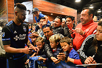 San Jose, CA - Saturday April 14, 2018: Anibal Godoy, fans during a Major League Soccer (MLS) match between the San Jose Earthquakes and the Houston Dynamo at Avaya Stadium.