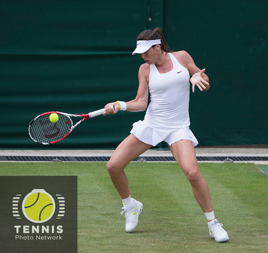 AJLA TOMLJANOVIC (CRO)<br /> <br /> The Championships Wimbledon 2014 - The All England Lawn Tennis Club -  London - UK -  ATP - ITF - WTA-2014  - Grand Slam - Great Britain -  24th June 2014. <br /> <br /> © Tennis Photo Network