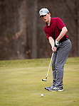 WATERTOWN,  CT-041119JS09-  Torrington's Aston Tyler putts on the 14th green during their match with Watertown Thursday at Crestbrook Park in Watertown. <br /> Jim Shannon Republican American