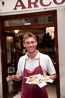 Matteo Pinto, owner of All' Arco, bàcaro serving popular Venetian Cicchetti, Italy