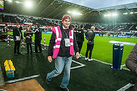 Club Photographer Dimitris Legkis during the Barclays Premier League match between Swansea City and West Ham United played at the Liberty Stadium, Swansea  on December 20th 2015