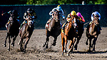 OCEANPORT, NJ - JULY 29: Good Magic, #6, ridden by Jose Ortiz, wins the Haskell Invitational Stakes on Haskell Invitational Day at Monmouth Park Race Course on July 29, 2018 in Oceanport, New Jersey. (Photo by Dan Heary/Eclipse Sportswire/Getty Images)