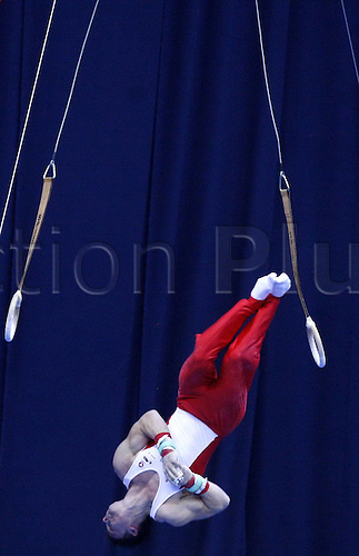 14 05 2010   MOSCOW  Lehner Fabian of Austria Competes during Qualification Match of Men s rings AT The 2010 FIG Gymnastics World Cup in MOSCOW